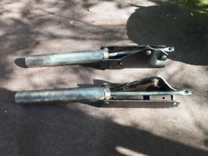 1965 1966 Mustang manual convertible top cylinders brackets