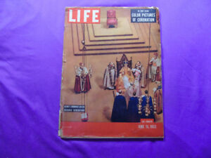 1953 Life Magazine Newly Crowned Queen