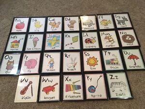 Alphabet cards and frames Belleville Belleville Area image 1