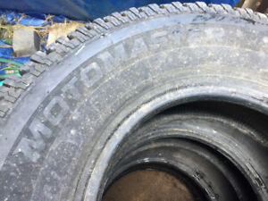 Set of four lightly used winter tires