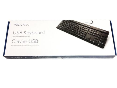 Insignia USB Keyboard with 10 Key Pad & Multimedia Keys