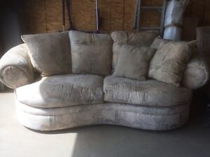 CUSTOM COVERED LOVE SEAT & CHAIR