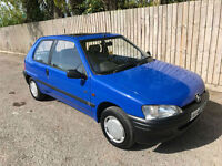 1996 N Peugeot 106 1.1 XN PETROL DONE 62k 52.3 MPG P/X