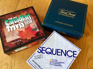 Trivial Pursuit, Canadian Trivia, Sequence