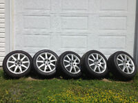 """17"""" Audi OEM rims and new tires"""