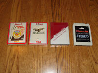 "8 track tape lot: Complimentary ""glove box"" factory parts, 3 New"