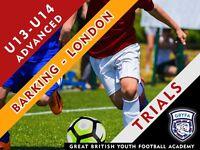 U13 and U14 Football Trials - Barking and Dagenham Area