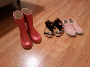 Rain boots, sandals and shoes size 12 and 13