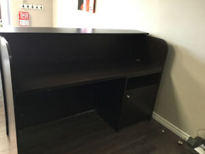 Dark brown/Black Reception Desk  -  MUST GO