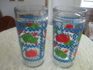 "PAIR of MATCHING HEAVY THICK ""ICED TEA"" WATER GLASSES"