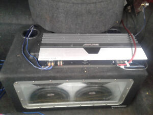 Alpine amp and lanzar subwoofers