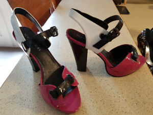 Pink/black/white Shoes