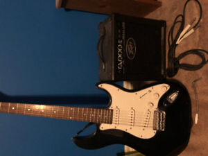 Electric Guitar with Amp and accessories