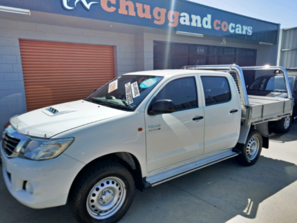 9/2014 Toyota Hilux SR Dual Cab Turbo Diesel Auto4x4 Flat Tray Launceston Launceston Area Preview