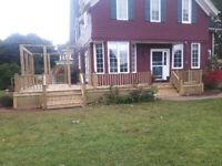 Decks, fences etc