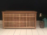 Wooden IKEA ottoman