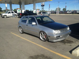 1992 Volkswagen Golf Vr6 Coupe (2 door) lowered wheels cf hood l