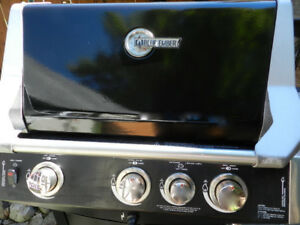 BIG BBQ 57,000 BTU 3 Grills+Side Burner+ BBQ Cover