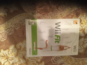 Wii game Fit.