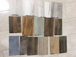 Vinyl planks tiles Laminate water proof. Available in 12+ Colors