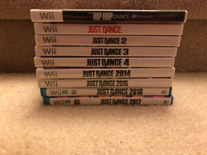 Wii And Wii U Just Dance games lot