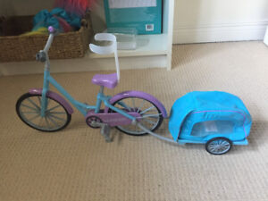 Bike and doll carrier for American girl