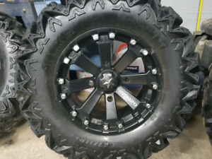 "14"" msa m20 rims and ripsaw tires"