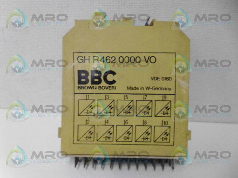 BROWN BOVERI GHR4620000VO TIME DELAY RELAY *USED*