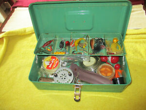 Vintage Fishing Tackle andLiberty Fishing Tackle Box Included