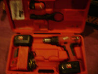 Milwaukee 18volt hammer drill with tool belt clip holster