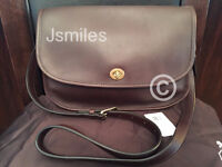 100% Authentic COACH Classic Leather City Bag in Brass/Mahogany