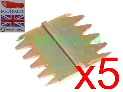 "5 x FOOTPRINT Heavy Duty Scutch Chisel Combs 25mm (1"") Wide Comb"