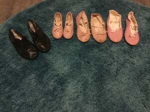 Variety of ballet shoes