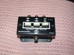Archer Universal Video Selector 15-1256 - $10.00