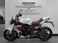 14 REG TRIUMPH STREET TRIPLE R IN BEST COLOURS LOW MILES ONE MATURE OWNER
