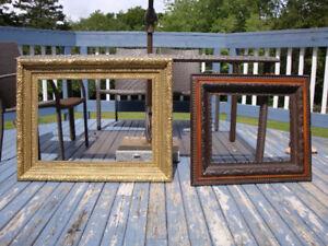 Antique 2 LARGE LARGE Original Frames made of Wood Plaster