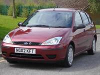 FORD FOCUS 1.4i 16v 2002. CL,LONG MOT,LOW TAX,LOW INSURANCE AND CHEAP TO RUN