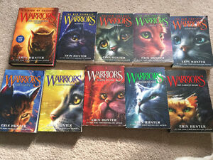 Warriors series. 10 books for $40