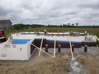 ICF foundation and full homes