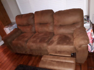 Camel colour retractable couch and sofa couch