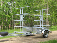 8 Place Canoe/16 Kayak Trailer with storage boxes