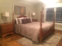 Cherry 5 piece bedroom set. Queen