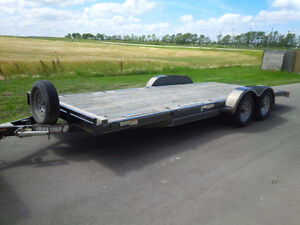 20' Wood Floor Flatbed / Car Hauler Trailer