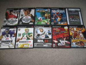 More PlayStation 2 Games-$5 each-Sports related titles