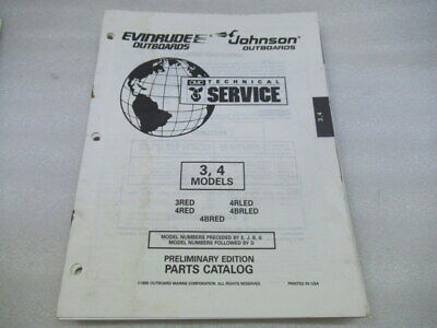 PM9 Evinrude 3 4 Models Preliminary Edition Parts Catalog Manual P/N 438141