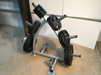 Jordon Olympic 160kg Weights Set & Weight Tree