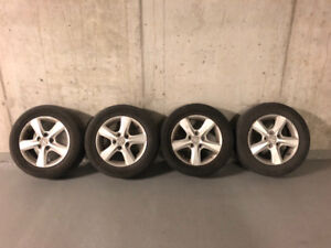 Summer tires for Mazda 3 for sale with mags 400$