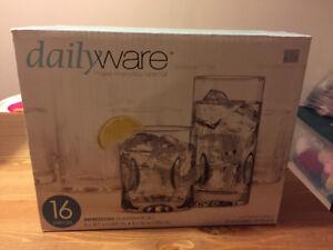 16pc glassware set