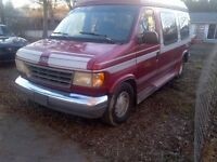 1994 E150 Ford equipped with Ricon Handicap Ramp and Tie Downs