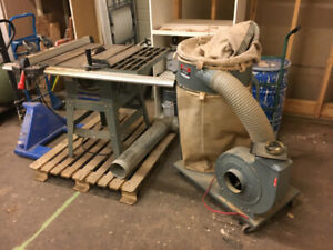 King Contractor Table Saw with King Dust Collector